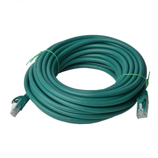 8ware-PL6A-40GRN-8Ware Cat6a UTP Ethernet Cable 40m SnaglessGreen