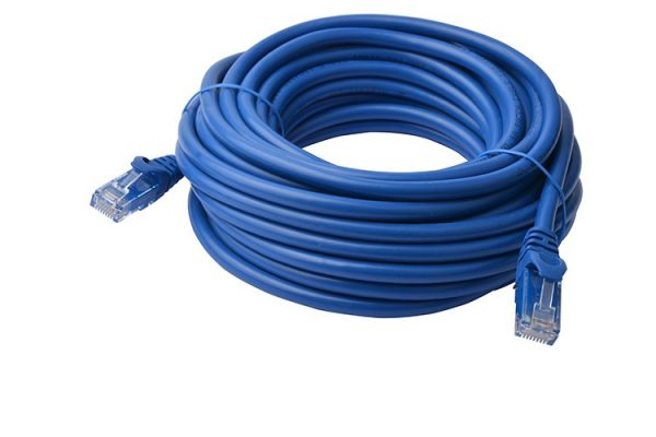 8ware-PL6A-50BLU-8Ware Cat6a UTP Ethernet Cable 50m SnaglessBlue
