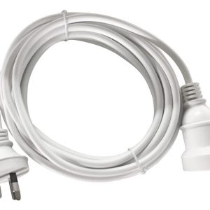 8ware-RC-3079AU-05-8Ware 5m AU Main Power Extension Cord Cable Lead 240V 3-Pin Male to Female Piggy Back Plug