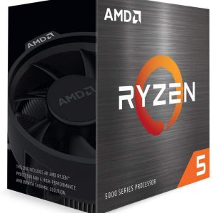 AMD-P-100-100000065BOX-P-AMD Ryzen 5 5600X Zen 3 CPU 6C/12T TDP 65W Boost Up To 4.6GHz Base 3.7GHz Total Cache 35MB Wraith Stealth Cooler (AMDCPU) (RYZEN5000)(AMDBOX)