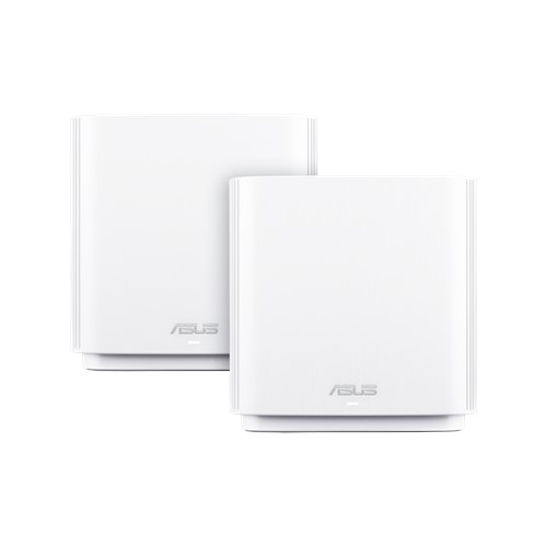 ASUS-CT8 (W-2-PK)-ASUS ZENWIFI CT8 AC3000 Tri-band Whole-Home Mesh WiFi Routers (2 Pack) White Colour