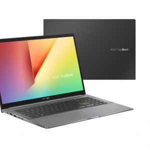 """ASUS Notebook-S533EA-BQ017R-Asus VivoBook S15 15.6"""" FHD Intel i5-1135G7 8GB 512GB SSD WIN10 PRO Intel UHD Graphics Backlit 3CELL 1.8kg 1YR WTY W10P Notebook (Black)(LS)"""