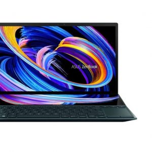 """ASUS Notebook-UX482EG-KA100T-Asus ZenBook Duo 14"""" FHD TOUCH Intel i7-1165G7 16GB 1TB SSD WIN10 HOME NVIDIA GeForce MX450 2GB Backlit ScreenPad Pen 4CELL 1YR WTY W10H UX482EG"""