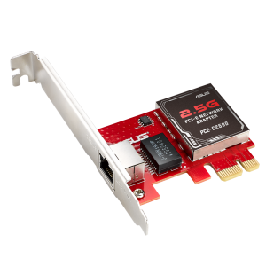 ASUS-PCE-C2500-ASUS PCE-C2500 2.5GBase-T PCIe Network Adapter Backward Compatibility 1G/100Mbps; RJ45 port