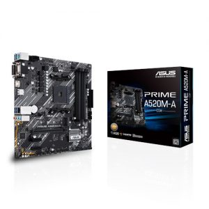 ASUS-PRIME A520M-A/CSM-ASUS PRIME A520M-A/CSM AMD Ryzen AM4 Motherboard M.2 Support
