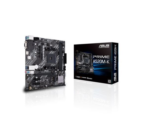 ASUS-PRIME A520M-K-ASUS PRIME A520M-K N Micro ATX AMD Ryzen AM4 Motherboard with M.2 support
