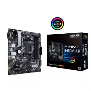 ASUS-PRIME B450M-A II-ASUS PRIME B450M-A II AMD Micro ATX motherboard with M.2 support