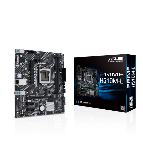 ASUS-PRIME H510M-E-ASUS PRIME H510M-E Intel H510 (LGA 1200) Micro ATX Motherboard PCIe 4.0