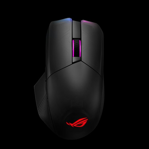 ASUS-ROG CHAKRAM-ASUS ROG CHAKRAM P704 Gaming Mouse Wireless Qi Charging16000dpi Tri-Mode Connectivity 2.4GHz/Bluetooth Wired  Aura Sync Lighting