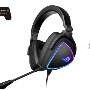 ASUS-ROG DELTA S-ASUS ROG DELTA S Lightweight USB-C Gaming Headset with AI noise-canceling mic