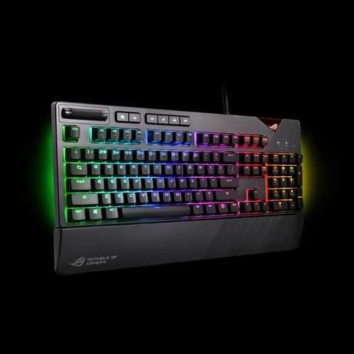 ASUS-ROG STRIX FLARE/BRN-ASUS ROG Strix Flare RGB Mechanical Gaming Keyboard With Cherry MX Switches (BROWN SWITCH)