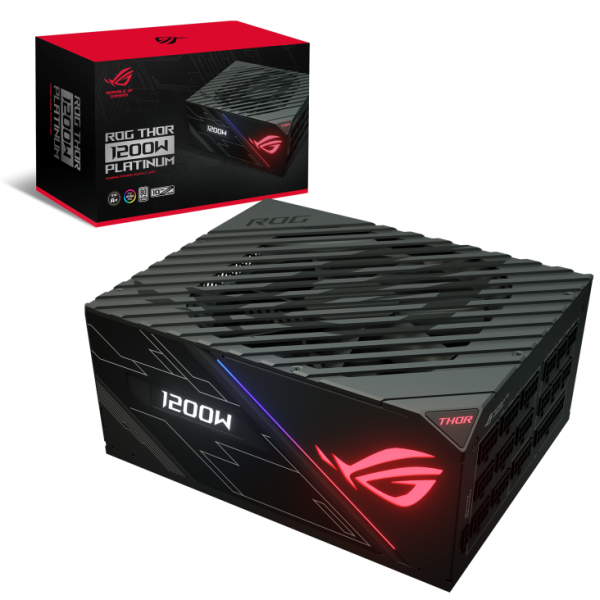 ASUS-ROG-THOR-1200P-ASUS ROG-THOR-1200P 1200w PLATINUM Power Supply With Aura Sync / OLED