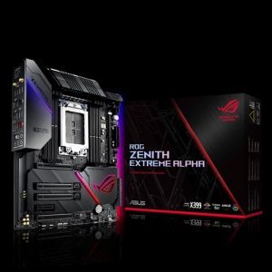 ASUS-ROG ZENITH EXTREME ALPHA-ASUS ROG Zenith Extreme Alpha X399 HEDT Gaming Motherboard AMD Threadripper 2 (TR4) EATX DDR4 M.2 10G LAN AC WIFI USB 3.1