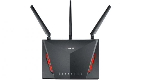 ASUS-RT-AC86U-S-(Promo) ASUS RT-AC86U AC2900 Dual Band Gigabit WiFi Gaming Router with MU-MIMO