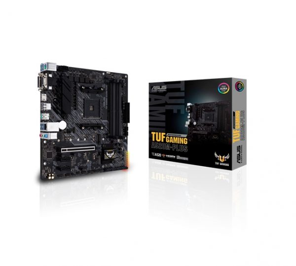 ASUS-TUF GAMING A520M-PLUS-ASUS TUF GAMING A520M-PLUS AMD A520 (Ryzen AM4) micro ATX motherboard with M.2 support