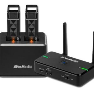 AVerMedia-61AW315001BD-Avermedia Wireless Teacher Microphone AW315 Full Package - Dual Mic with Smart Pair. Microphone x 2
