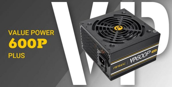 Antec-VP600P PLUS-Antec 600W VP PLUS. 80+ 230V. Up to 85% Efficiency