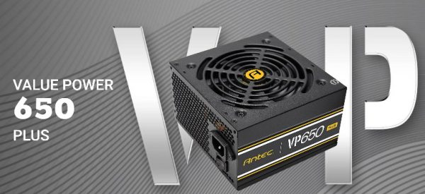 Antec-VP650P-PLUS-Antec VP650P PLUS 650w 80 PLUS @ 85% Efficiency AC 120V - 240V
