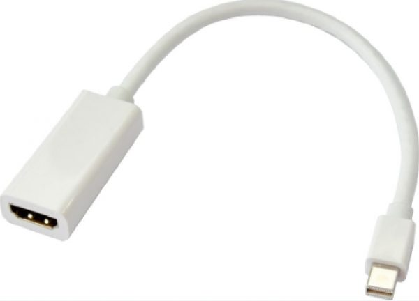 Astrotek-AT-MINIDPHDMI-MF-Astrotek Mini DisplayPort DP to HDMI Cable 15cm - 20 pins Male to Female 1080P Adapter Converter for Macbook Pro Air iMac Microsoft Surface Pro