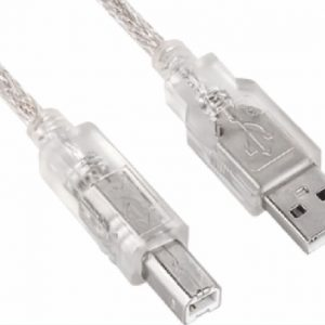 Astrotek-AT-USB-AB-2M-Astrotek USB 2.0 Printer Cable 2m - Type A Male to Type B Male Transparent Colour