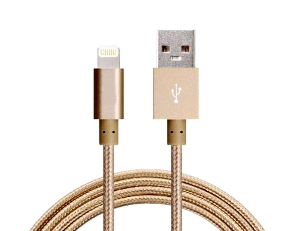 Astrotek-AT-USBLIGHTNINGG-1M-Astrotek 1m USB Lightning Data Sync Charger Gold Color Cable for iPhone 7S 7 Plus 6S 6 Plus 5 5S iPad Air Mini iPod