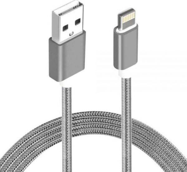 Astrotek-AT-USBLIGHTNINGW-2M-Astrotek 2m USB Lightning Data Sync Charger Grey White Color Cable for iPhone 7S 7 Plus 6S 6 Plus 5 5S iPad Air Mini iPod