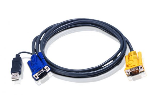 Aten-2L-5202UP-Aten KVM Cable 1.8m with 3 in 1 SPHD to VGA  USB