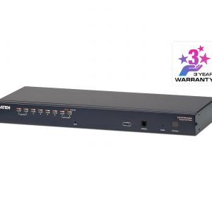 Aten-KH1508A-AX-U-Aten Rackmount KVM Switch 1 Console 8 Port Multi-Interface Cat 5