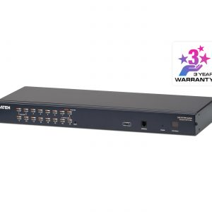 Aten-KH1516A-AX-U-Aten Rackmount KVM Switch 16 Port Multi-Interface Cat 5