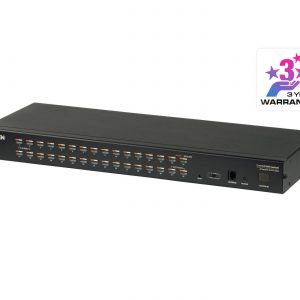 Aten-KH1532A-AX-U-Aten Rackmount KVM Switch 1 Console 32 Port Multi-Interface Cat 5