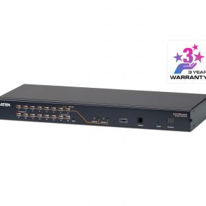 Aten-KH2516A-AX-U-Aten Rackmount KVM Switch 2 Console 16 Port Multi-Interface Cat 5