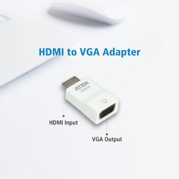 Aten-VC810-AT-Aten HDMI to VGA Converter - Supports Up To 1920 x 1200