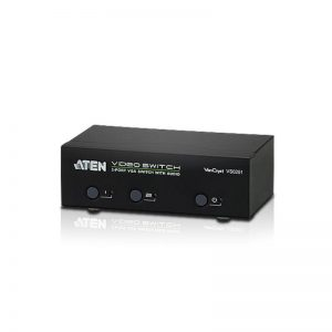 Aten-VS0201-AT-U-Aten VanCryst 2 Port VGA Video Switch with Audio and RS232 Control (PROJECT)(LS)