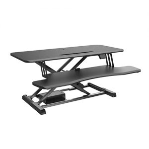 Brateck-DWS15-02-Brateck Electric Sit Stand Desk Converter with Keyboard Tray Deck (Standard Surface) Worksurface Up to 20kg