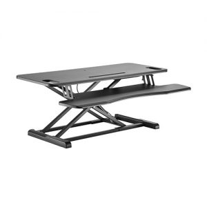 Brateck-DWS28-02N-Brateck Gas Spring Sit Stand Desk Converter with Keyboard Tray Deck(Standard MDF Board Surface)