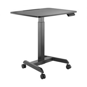 Brateck-FWS08-3-B-Brateck Electric Height Adjustable Workstation with casters