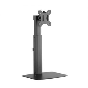 """Brateck-LDS-22T01-Brateck Single Free Standing  Screen Pneumatic Vertical Lift Monitor Stand Fit Most 17""""-32"""" Flat and Curved Monitors Up to 7 kg VESA 75x75/100x100"""