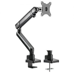"Brateck-LDT20-C012-Brateck Single Monitor Aluminium Slim Mechanical Spring Monitor Arm Fit Most 17""-32"" Monitor Up to 8kg per screen VESA 75x75/100x100"