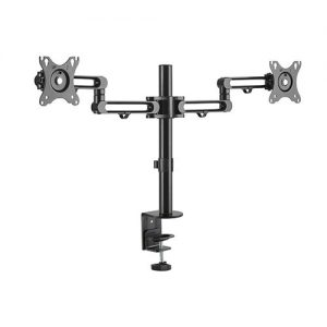 "Brateck-LDT30-C024-Brateck Dual Monitor Premium Aluminum Articulating Monitor Arm Fit Most 17""-32"" Monitors Up to 8kg per screen VESA 75x75/100x100"