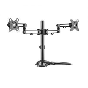 "Brateck-LDT30-T024-Brateck Dual Monitor Premium Articulating Aluminum Monitor Stand Fit Most 17""-32"" Monitors Up to 8kg per screen VESA 75x75/100x100"
