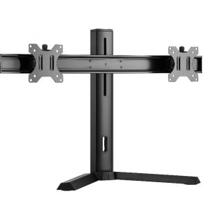 """Brateck-LDT32-T02-Brateck Dual Free Standing Screen Classic Pro Gaming Monitor Stand Fit Most 17""""- 27"""" Monitors"""