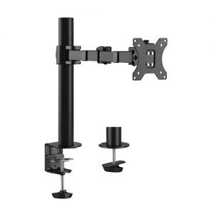 """Brateck-LDT33-C012-Brateck Single Monitor Affordable Steel Articulating Monitor Arm Fit Most 17""""-32"""" Monitor Up to 9kg per screen VESA 75x75/100x100"""