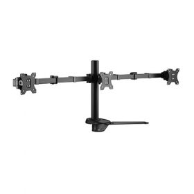 """Brateck-LDT33-T036-Brateck Triple Free Standing Monitors Affordable Steel Articulating Monitor Stand Fit Most 17""""-27"""" Monitors Up to 7kg per screen VESA 75x75/100x100"""