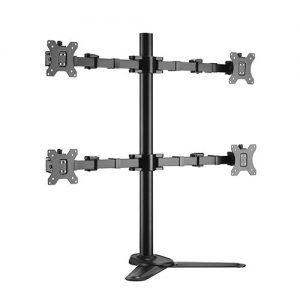 """Brateck-LDT33-T048-Brateck Quad Free Standing Monitors Affordable Steel Articulating Monitor Stand Fit Most 17""""-32"""" Monitors Up to 9kg per screen VESA 75x75/100x100"""