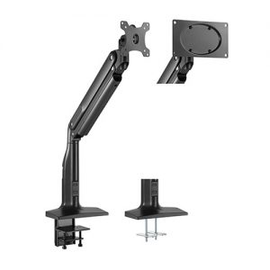"""Brateck-LDT43-C011-Brateck Single Monitor Select Gas Spring Aluminum Monitor Arm Fit Most 17""""-43"""" Monitor Up to 18kg per screen VESA75x75/200x100/100x100"""