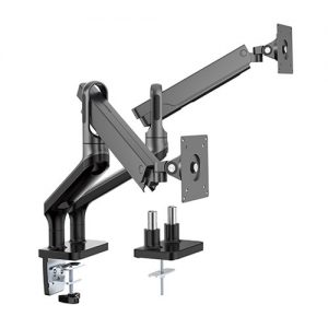 "Brateck-LDT50-C024-B-Brateck Dual Monitor Premium Aluminium Spring-Assisted Monitor Arm Fit Most 17""-32"" Flat Panel and Curved Monitors Up to 9kg per screen (Black)"