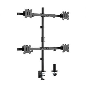 "Brateck-LDT57-C04-Brateck Pole Mount Quad-Screen Monitor Mount Fit Most 17""-32"" Monitors"