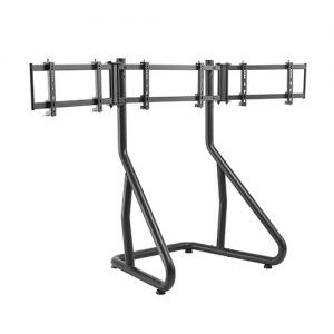 """Brateck-LRS01-SR02-Brateck Triple Monitor Stand Perfect Viewing in the Game Fit Most 24""""-32"""" Monitors Up to 10kg per screen"""