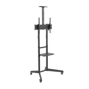 Brateck-T1040T-Brateck Versatile  Compact Steel TV Cart with top and center shelf for 37'-70' TVs Up to 50kg