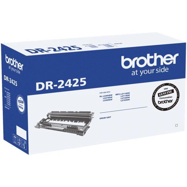 Brother-DR-2425-Brother DR-2425 Mono Laser Drum- Standard Cartridge - HL-L2350DW/L2375DW/2395DW/MFC-L2710DW/2713DW/2730DW/2750DW- up to 12